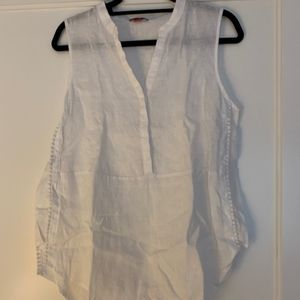 Vince Camuto White Linen Top
